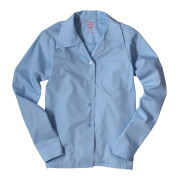 Girls' Broadcloth Long-sleeve Shirt
