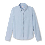 Girls' Oxford Long-sleeve Blouse