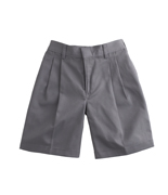 Boys' Cotton/poly Twill Pleated Shorts