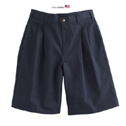 Men's Cotton/poly Twill Pleated Shorts