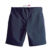 Boys' Poly/cotton-twill Flat-front Shorts