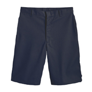 Men's Poly/cotton-twill Flat-front Shorts