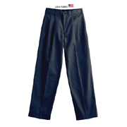 Men's Cotton/poly Twill Pleated Pants - Short and Long Inseam
