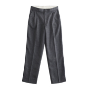 Men's Gray-flannel Pleated Pants - Short and Long Inseam