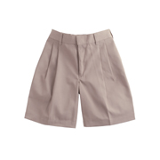 Boys' 100% Cotton Pleated Shorts
