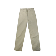 Boys' Cotton Twill Flat-front Pants