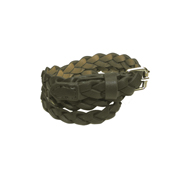 Girls' Leather Braided Belt