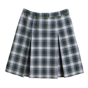 Girls' Poly/Cotton Four-pleat Skirt