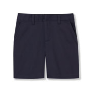 Girls' Cotton/poly Flat-front Shorts